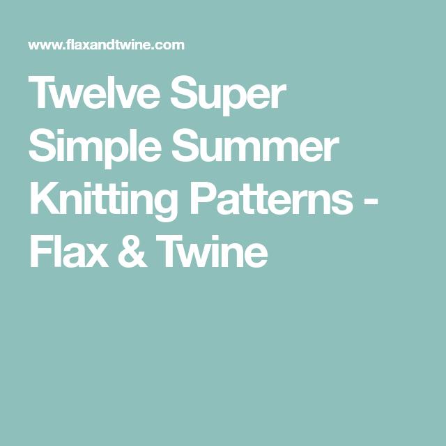 Twelve Super Simple Summer Knitting Patterns
