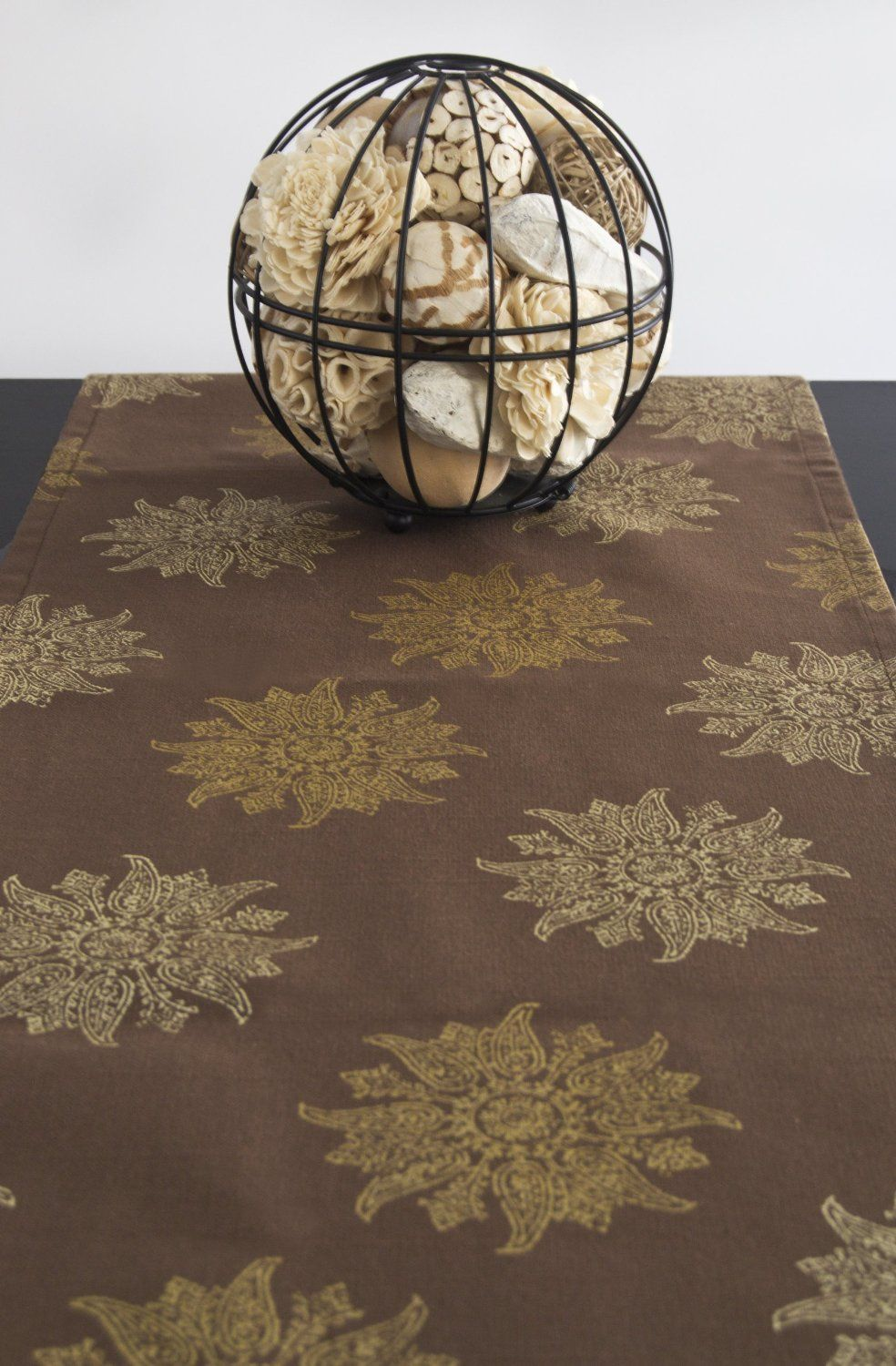Brown Table Runner Brown Color 108 inch