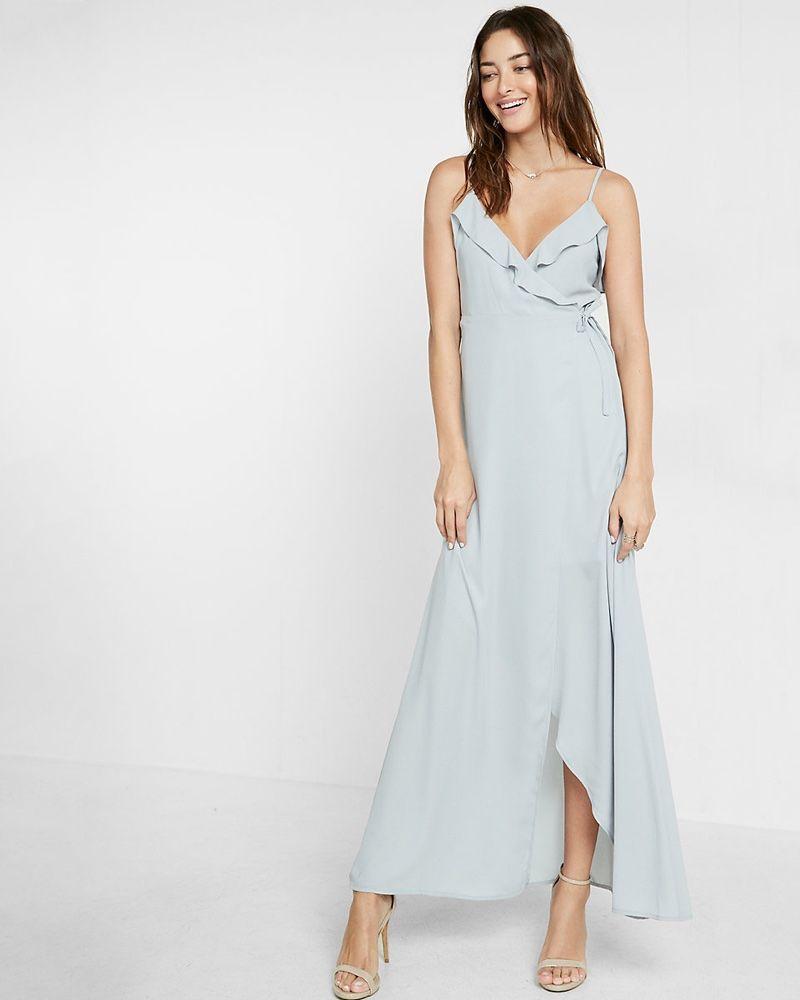 c34f6ff887 Wish List  Turn Up the Glam in Express  Ruffled Maxi Dress ...