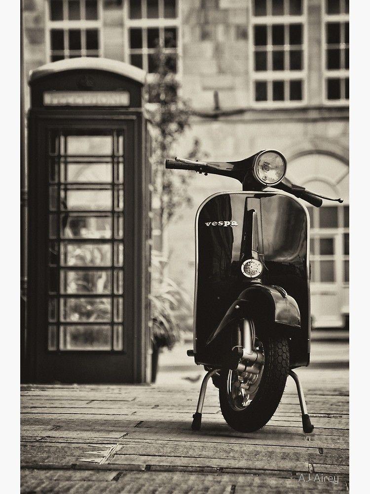 Vespa Primavera Classic Greeting Card By Aj Airey Klasik Mobil Gambar