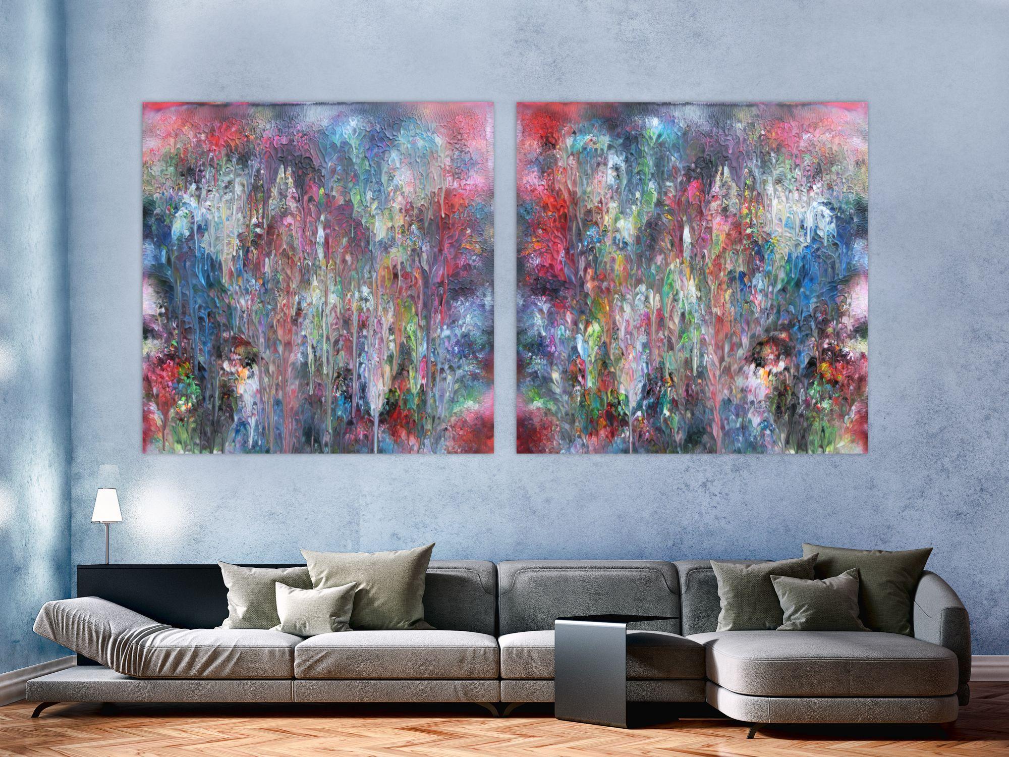 Abstraktes Bild Fleck Bunt Modern 100x200cm Von Alex Zerr Abstrakt Abstrakte Bilder Abstrakte Kunst Auf Leinwand