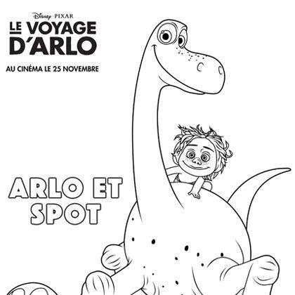 Coloriage arlo et spot dinosaure pinterest - Dinausore dessin ...