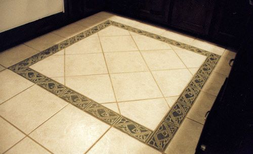 kitchen floor tile border ideas tile floor borders gallery on rh pinterest com
