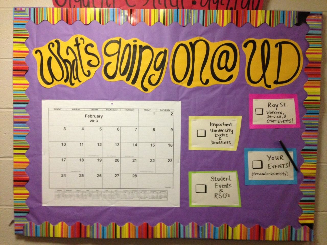 You Know You're an RA When — nicodido: My spring semester bulletin boards. #rabulletinboards