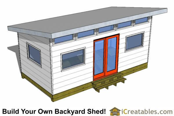 10x20 Modern Studio Shed Plans Storage Building Plans Shed Plans Shed Floor Plans