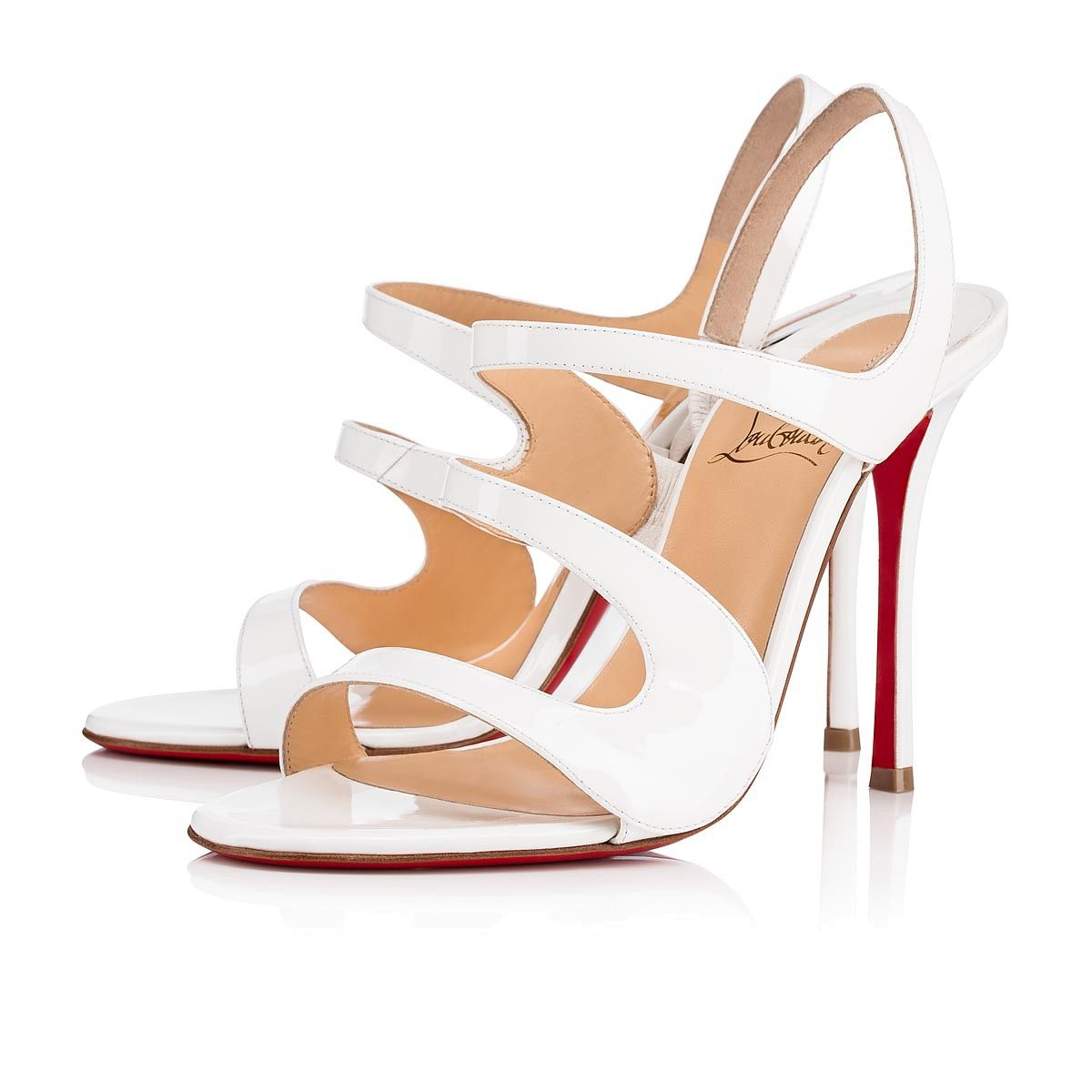 5b4f32ba001 Vavazou 100 Latte Patent Leather - Women Shoes - Christian Louboutin ...