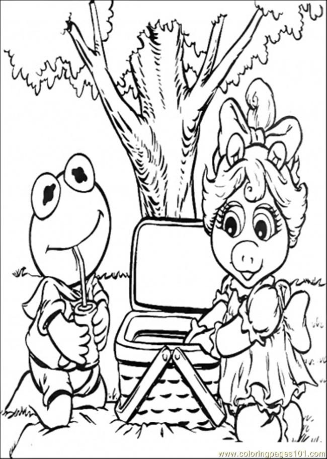 Riend Go Picnic Coloring Page Coloring Page Color Online | Happy ...