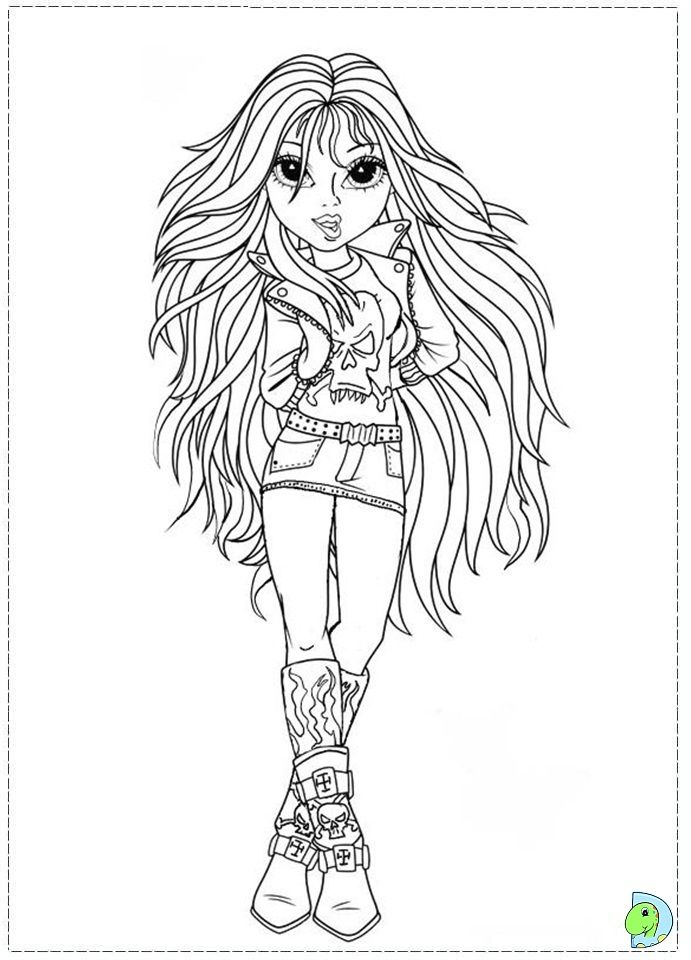 moxie girlz colouring page with images coloring pages