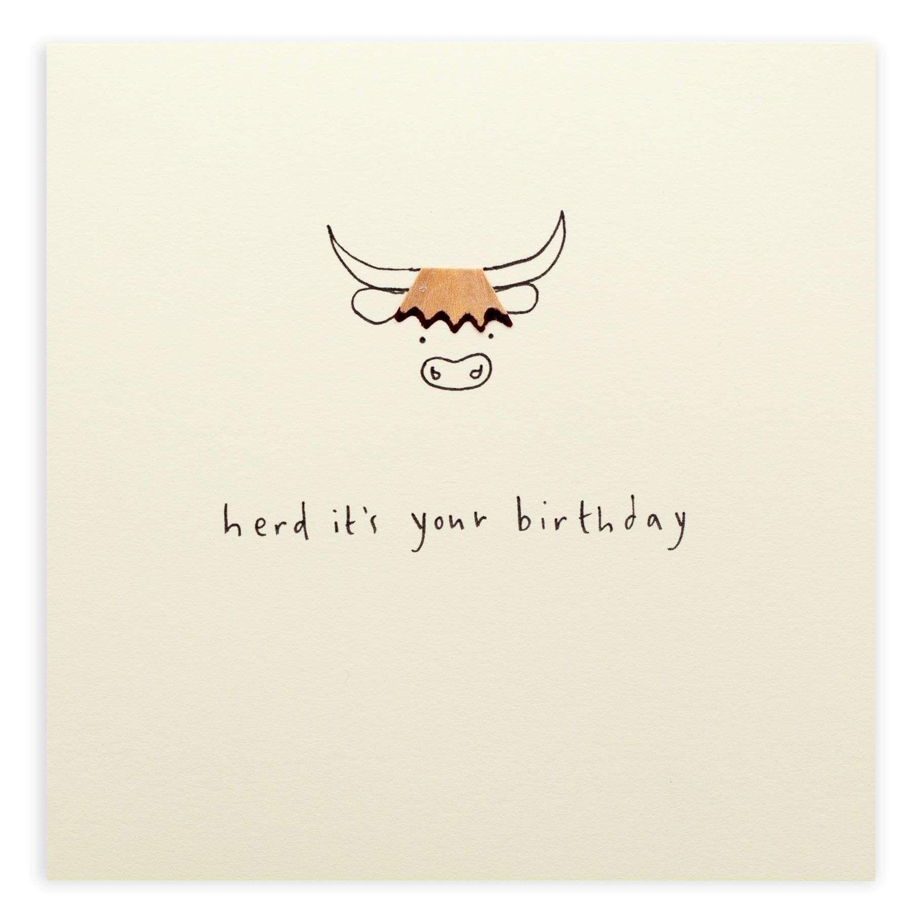 Birthday Highland Cow Pencil Shavings Card Birthday Cards For Mum Watercolor Birthday Cards Happy Birthday Cards Printable
