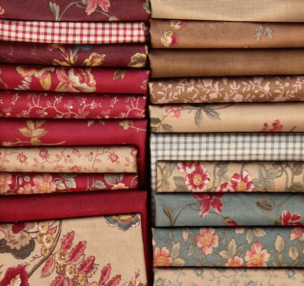 Must buy. Antique Fair (half yard bundles) by Blackbird Designs for Moda. Available at Quilted Crow. (Guest Room quilt!)