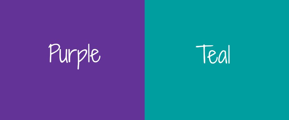 Ravishing Purple Teal: Colors That Go With Teal.