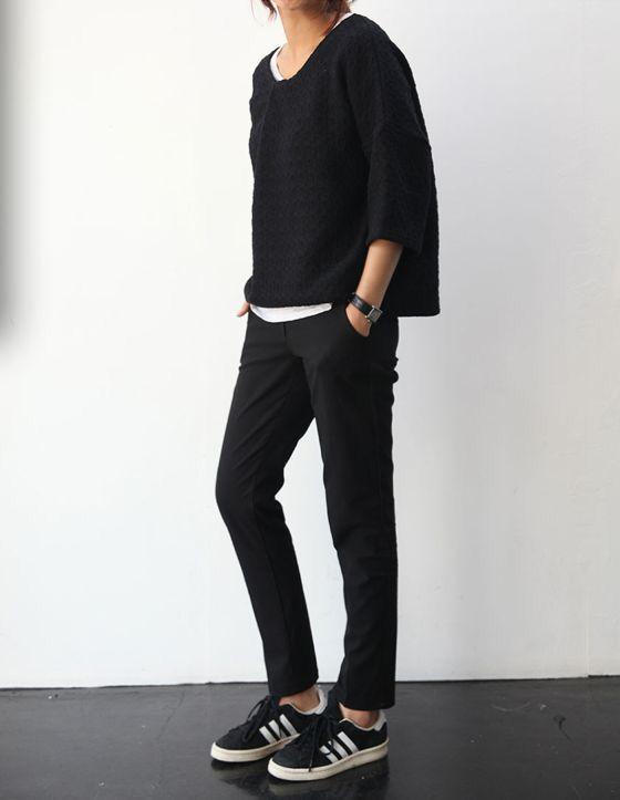 Outfits con Adidas negros para verte con mucho estilo | Que
