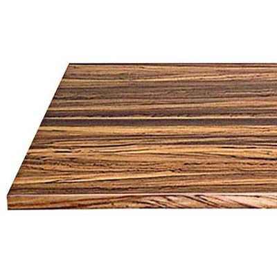 This dense African wood has a dramatic mix of dark grain with golden highlights. Zebrawood flat grain, 1½ inches thick, around $72, from AWP Butcher Block Photo: Kolin Smith | thisoldhouse.com | from  Butcher Block Buying Guide