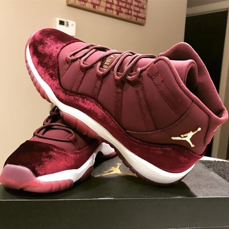 NEW RED VELVET AIR JORDAN 11 SIZES 7-13 RETRO BURGUNDY ...