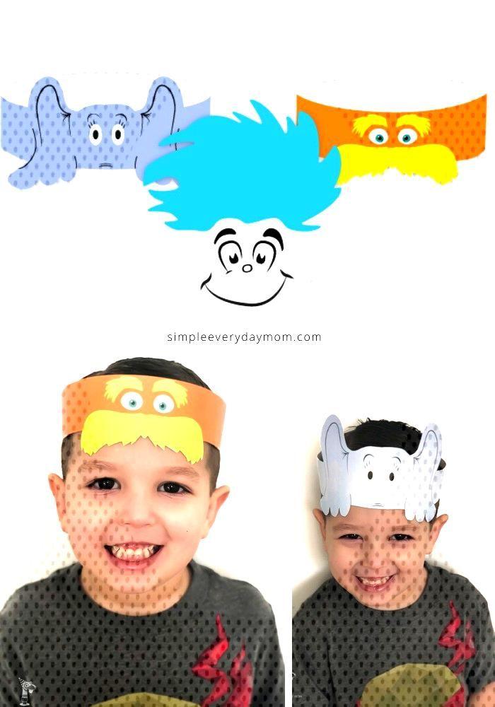 Free Printable Dr. Seuss Hats These free printable Dr. Seuss headbands are a fun preschool activit