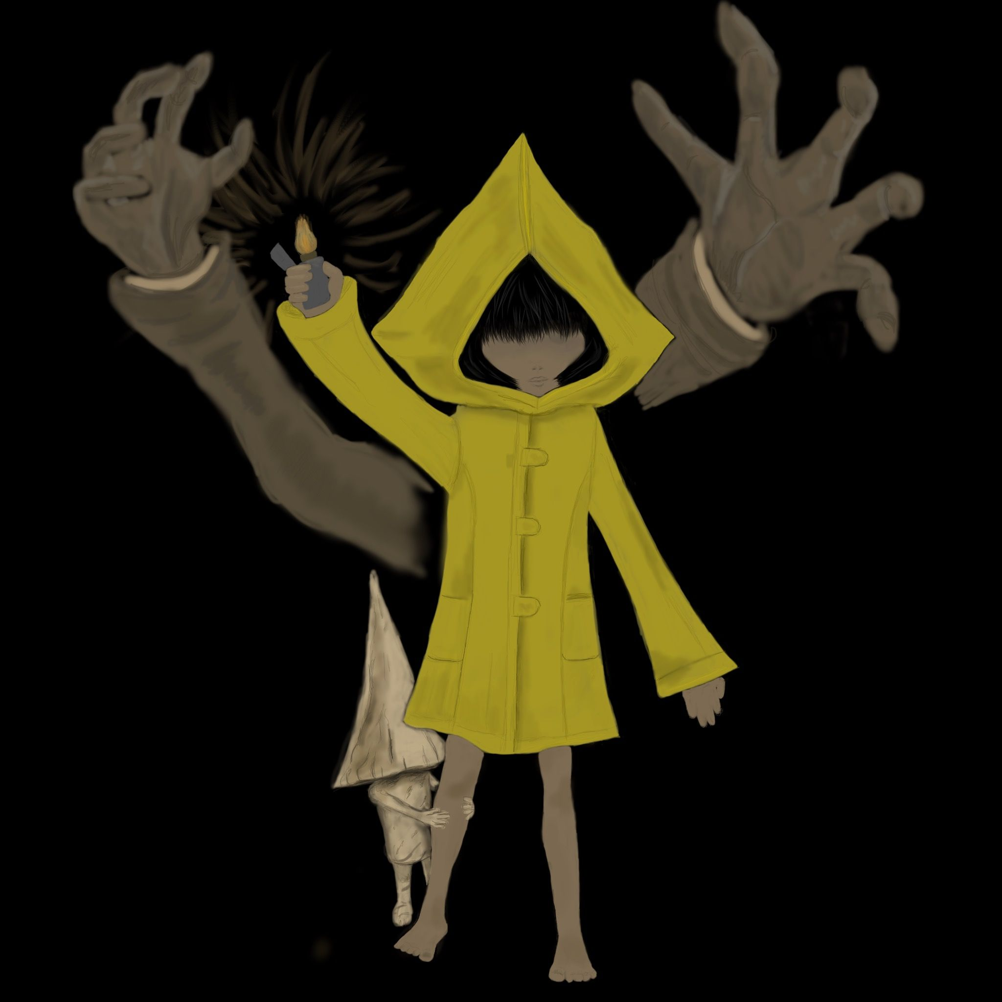 Six The Janitor And Little Gnome Little Nightmares Artwork By Deanna Cooper Littlenightmares Six Horror Nightmares Artwork Nightmare Aurora Sleeping Beauty