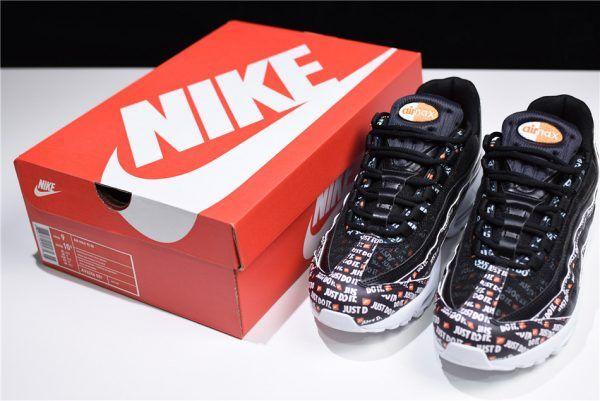 2018 Nike Air Max 95 SE Just Do It Black White Total Orange Sneakers AV6246 -001-5 48e47bee3