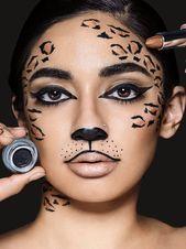 Photo of Erfahren Sie, wie man Wildkatzen-Make-up macht, perfekt für Make-up-Looks von Leoparden und Geparden, usi …