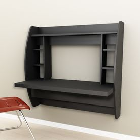 Prepac Furniture Black Wall Mounted Desk Behw 0200 1