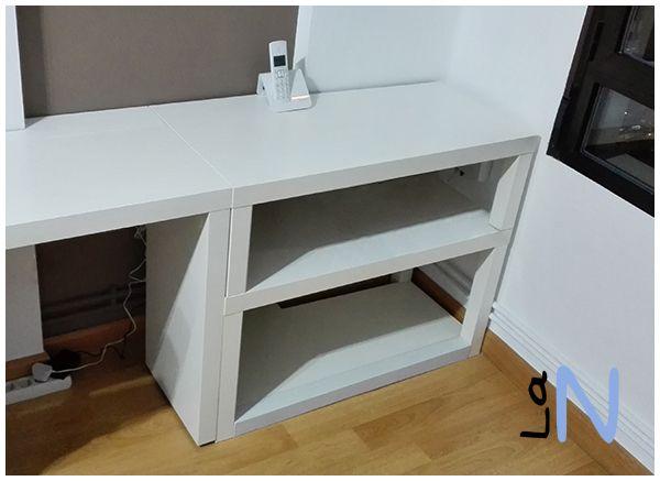 Diy estanter a a medida con dos mesas lack de ikea mira - Estanteria a medida ...