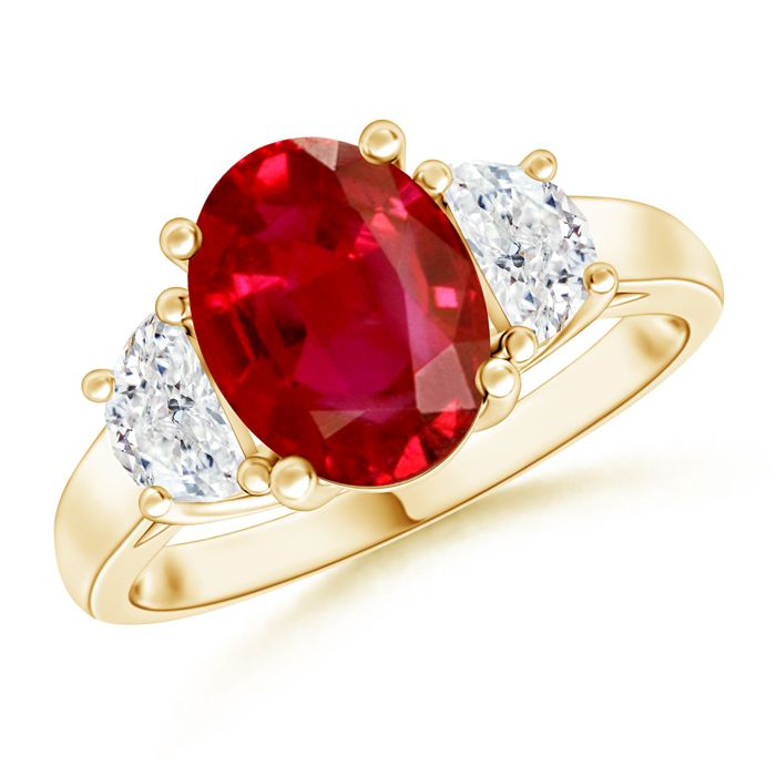 Angara GIA Certified Oval Ruby Butterfly Bypass Ring 77ixjp7V