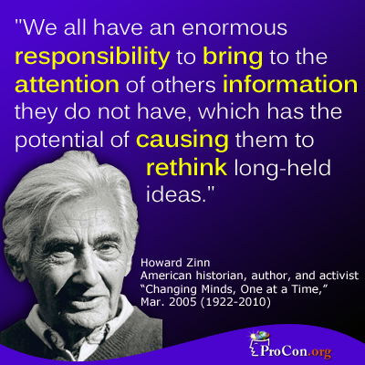 howard zinn we all have an enormous responsibility to bring to  howard zinn we all have an enormous responsibility to bring to the attention of others