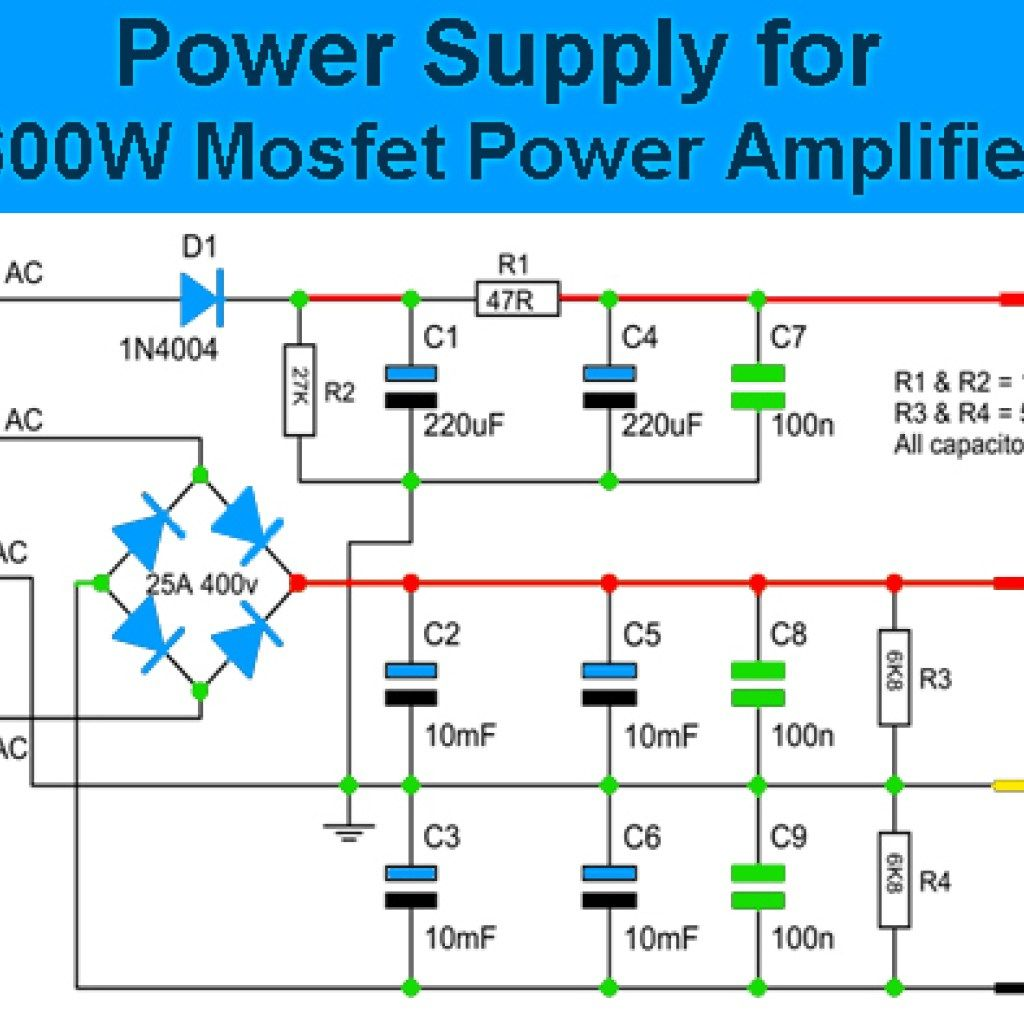 Power Supply Circuit For 600w Mosfet Amplifier Fred 2000w Amp Ocl Using Sanken