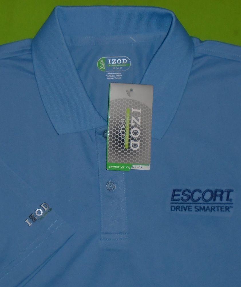 7f7d25d37 IZOD Cool-FX Wicking Fabric Golf SwingFLEX Polo Shirt w Sponsor Logo Men XL  NWT  IZOD  PoloRugby