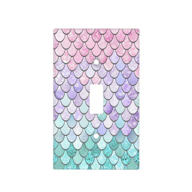 Mermaid Decor, Light Switch Cover, Pastel | Zazzle.com