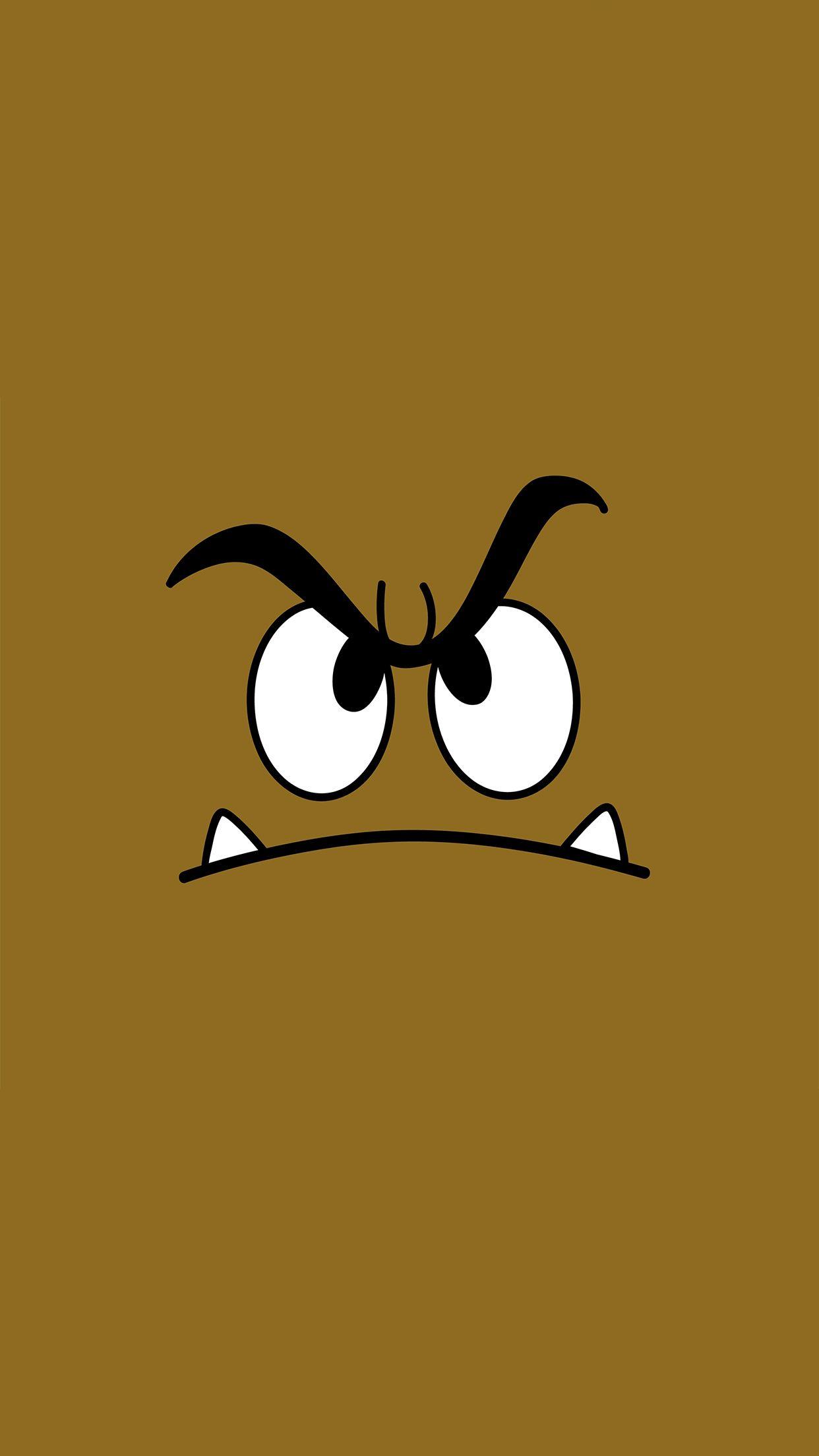 Super-Mario-Goomba-3Wallpapers-iPhone-Parallax | Mario Bros | Pinterest