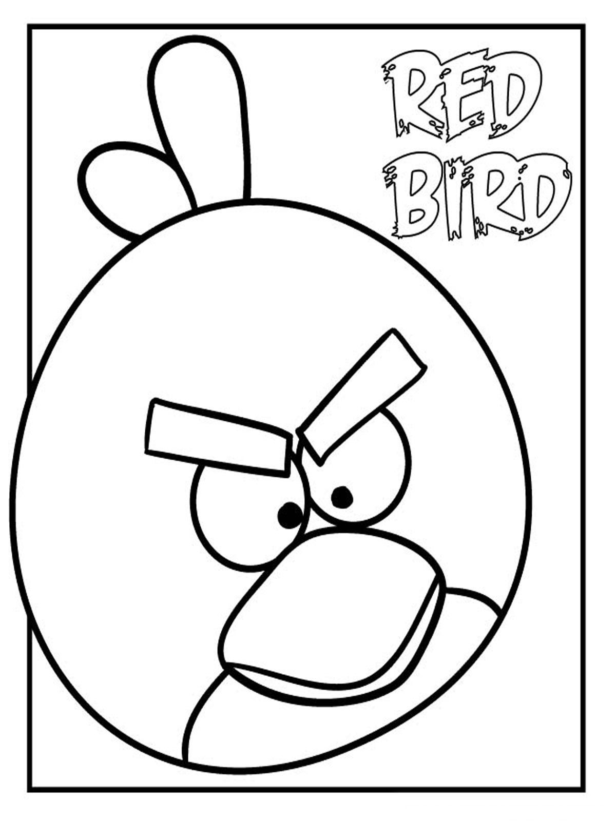 Angry Birds Coloring Pages Red Bird Cartoon Jr
