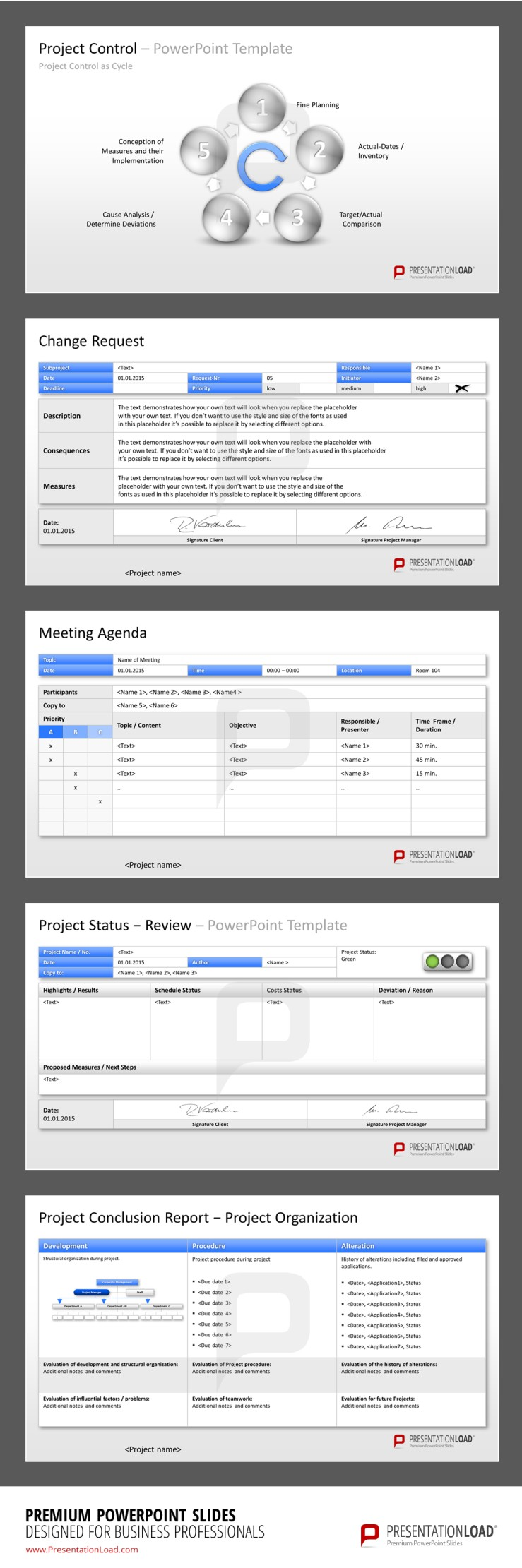 Project Management PowerPoint Templates to keep the