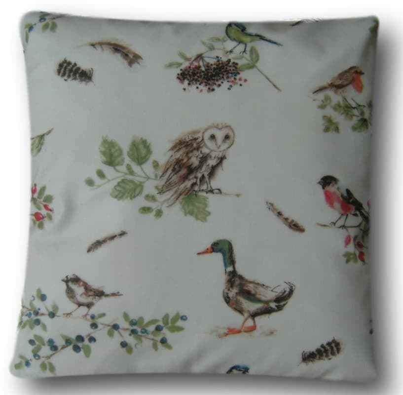 "Cushion Cover 14/"" Laura Ashley Garden Birds Multi Covers"