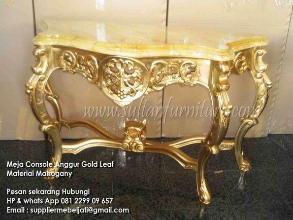 Modern Furniture Jepara meja gold ukir furniture jepara, meja konsole cat emas furniture