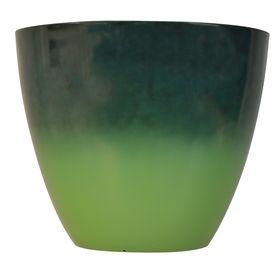 allen   roth�14.45-in H x 17.2-in W x 17.2-in D Green/Turquoise Indoor/Outdoor Planter