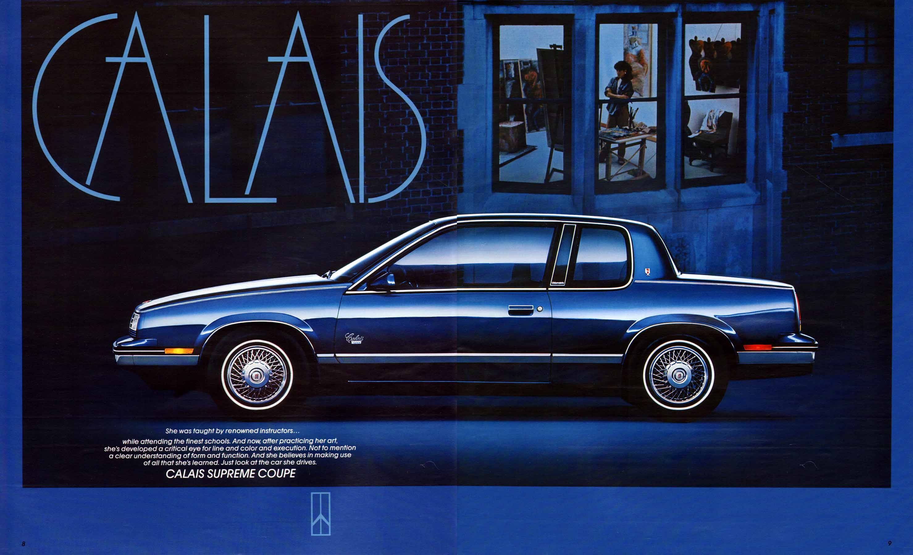 1987 Oldsmobile Calais Supreme Coupe Same Color Blue Had Cool