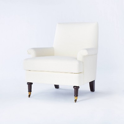 Mercer Rolled Arm Upholstered Arm Chair With Casters