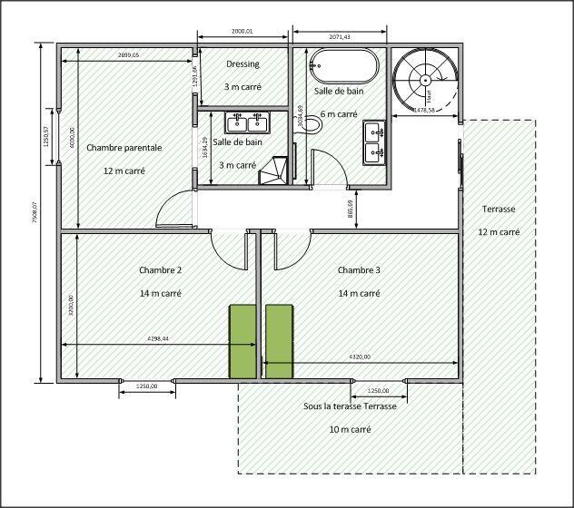 Proposition Amélie V1 - sous-sol terrain en pente Pinterest