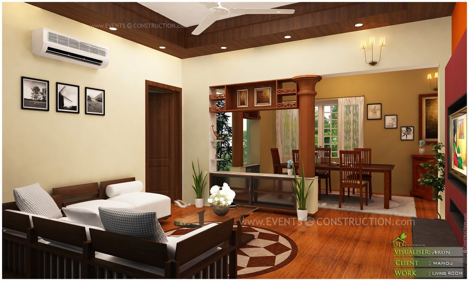 Images of western style homes in kerala google search for Kerala house living room interior design