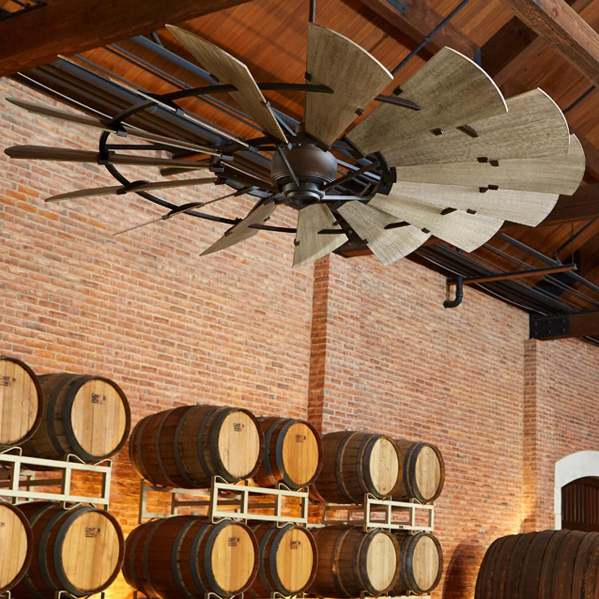60 Rustic Windmill Ceiling Fan This Stunning Utilizes Fifteen Dramatically Tilted Blades Channeling The Design Of A