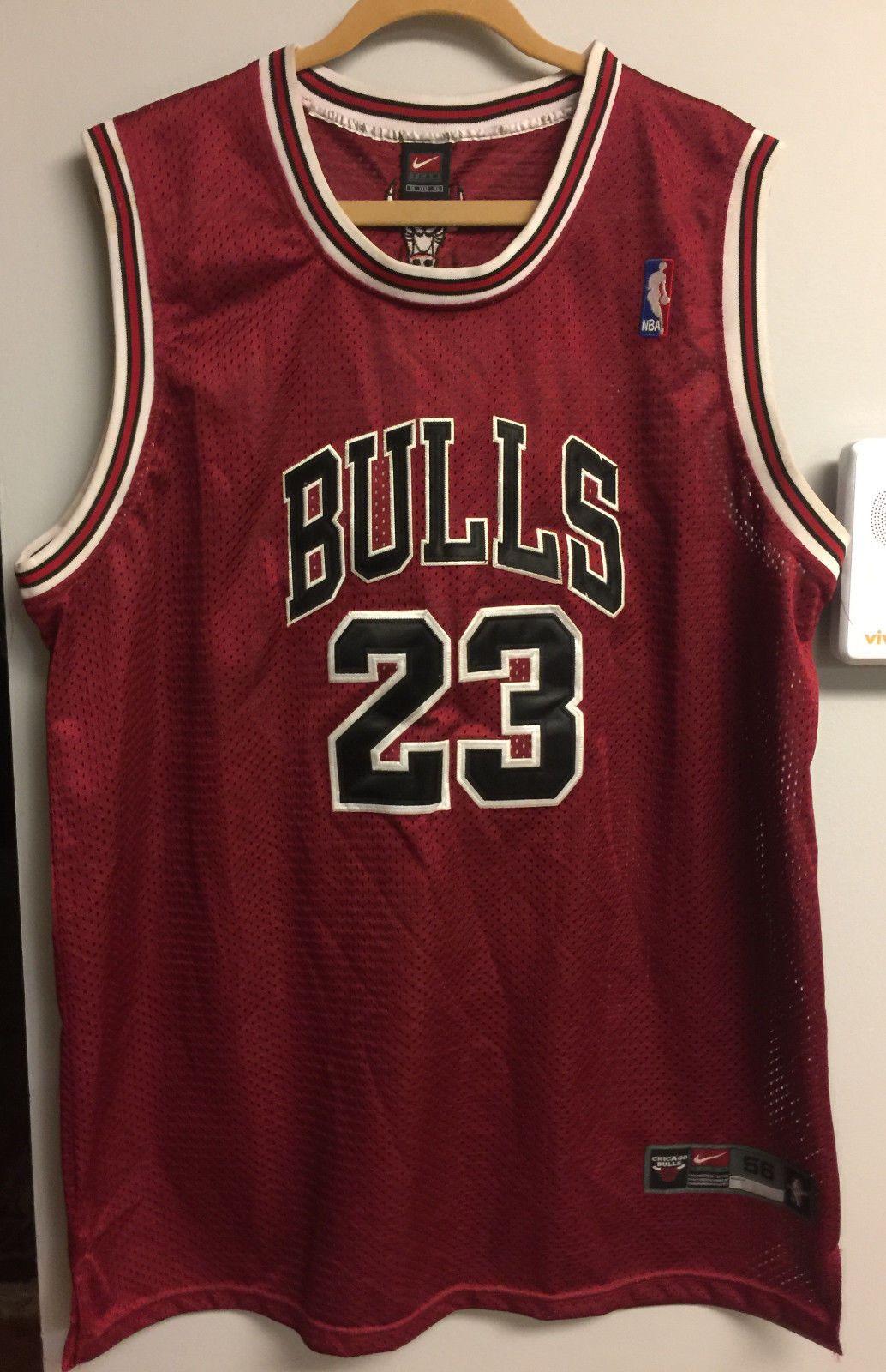 100% Authentic NIKE Chicago Bulls Michael Jordan #23 Jersey Sz 56 XXXL Bulls