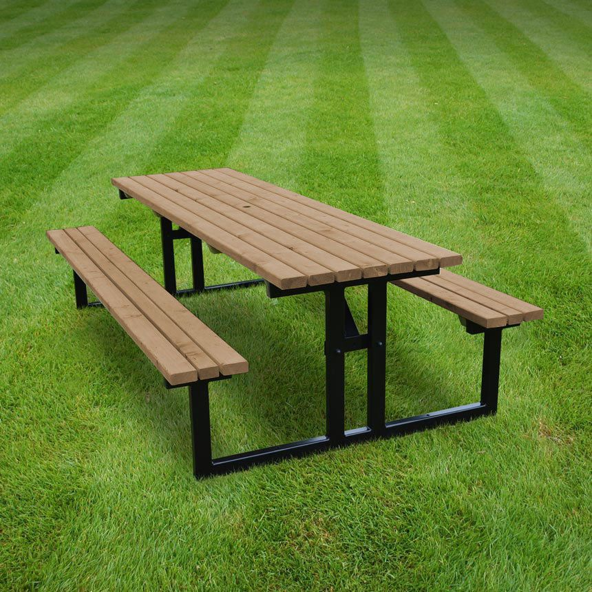 Tinwell steel picnic table / bench - heavy duty - pressure treated ...
