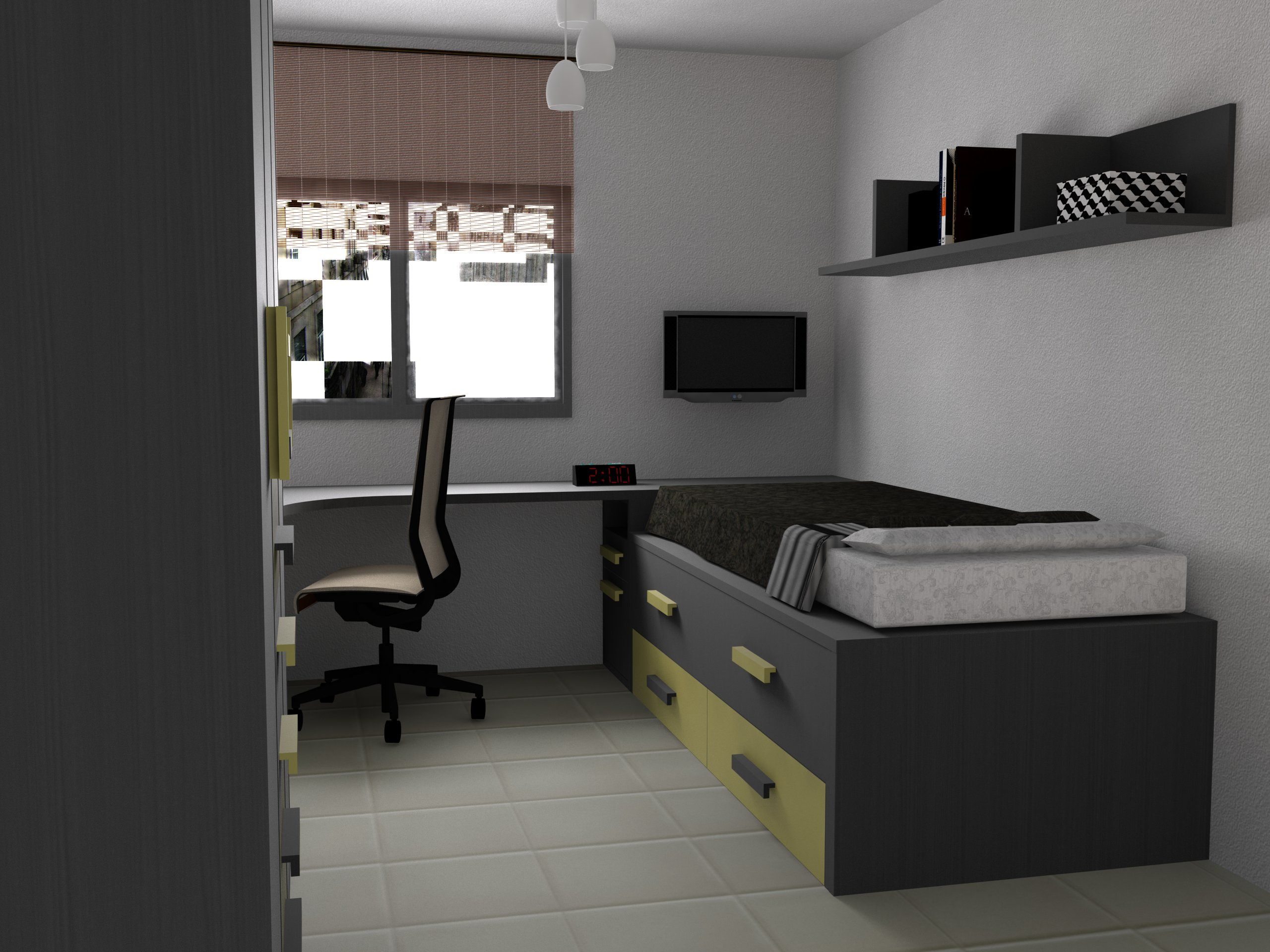 Dise o 3d para unos clientes de una habitaci n juvenil - Diseno habitaciones juveniles ...