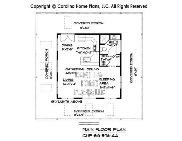 Tiny Cottage Style House Affordable Small Home Plan Under 600 Square Feet