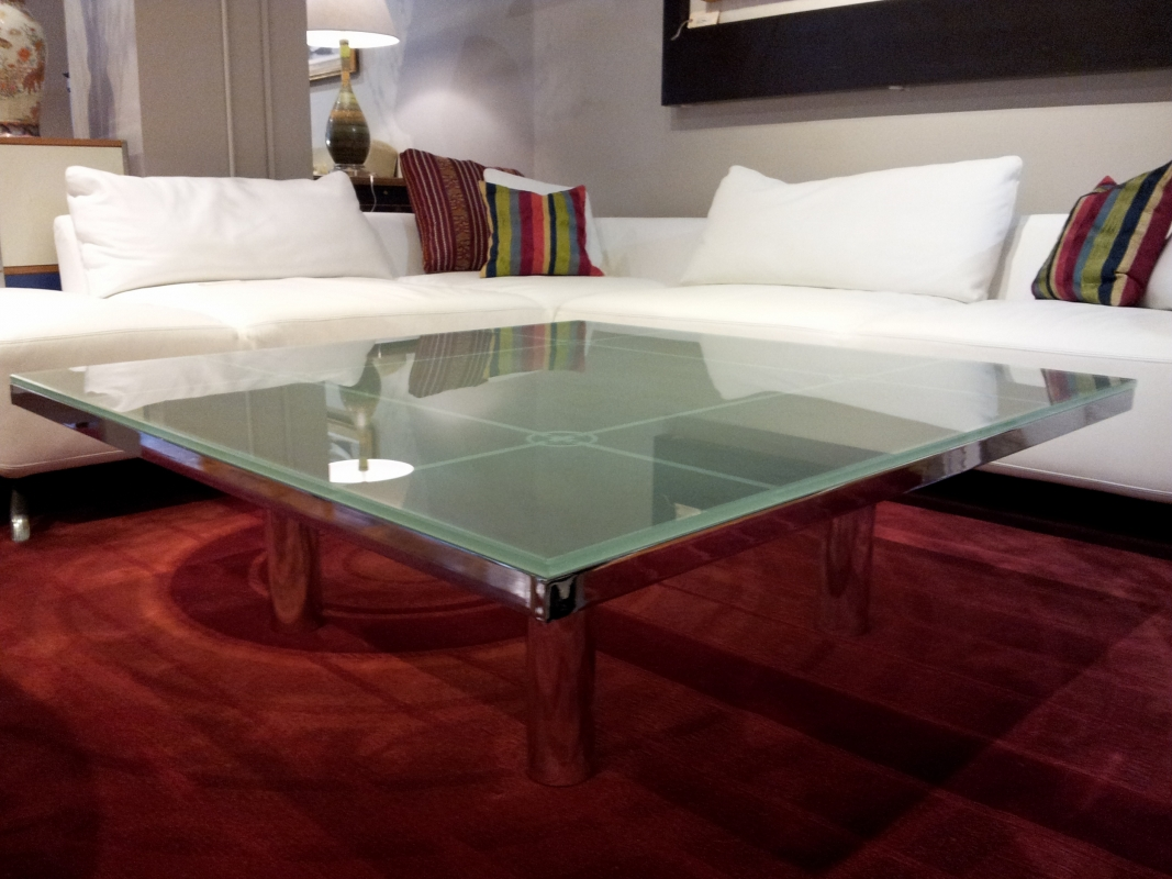 Knoll Andre Coffee Table By Tobia Scarpa W Chrome Base And Frosted Glass Top Dimensions L 45 W 45 H 15 Luxury Furniture Coffee Table Furniture [ 800 x 1067 Pixel ]