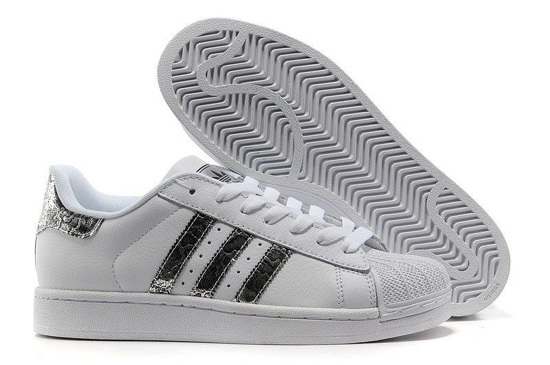Hot Sale Adidas Superstar 2 G62847 Leather White Snake Silver Trainers Shoes  UK. Awesome,