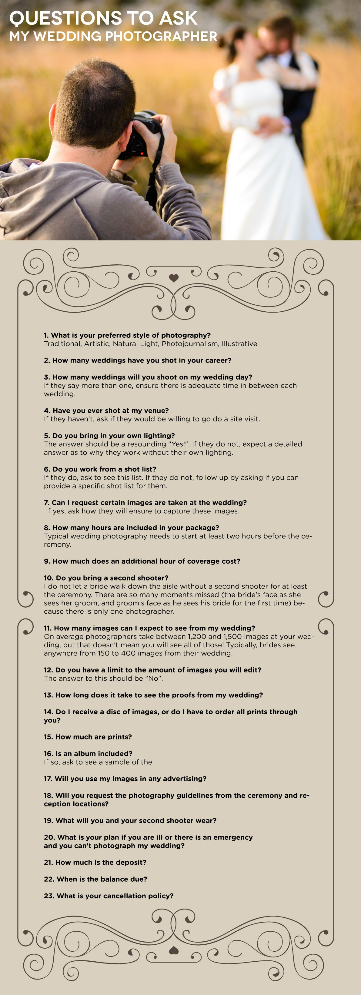 Bride And Groom Questionnaire Wedding Photography Business Wedding Photographer Questions Wedding Photography List