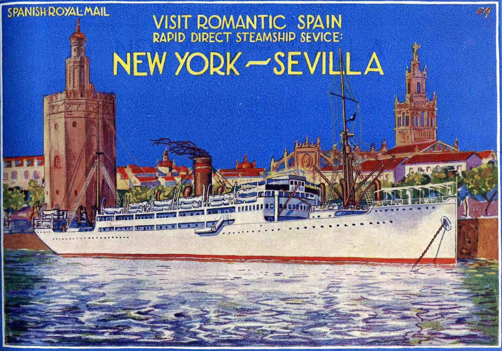 SPANISH ROYAL MAIL (COMPAÑIA TRASATLÁNTICA ESPAÑOLA), motonave Manuel Arnús 1923