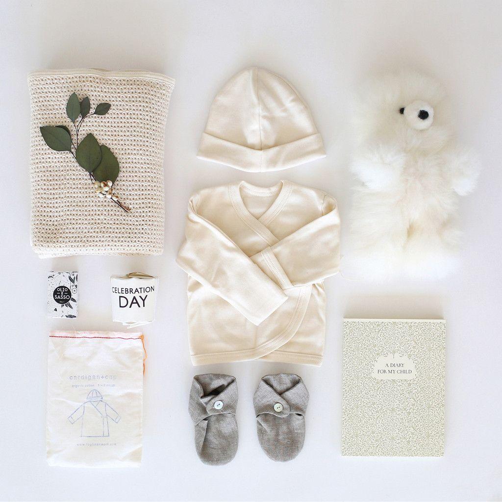 26b6ce1a31 New Mom   Baby Gift Basket  Baby Alpaca Bear Fog Linen Work Cotton Knit Baby