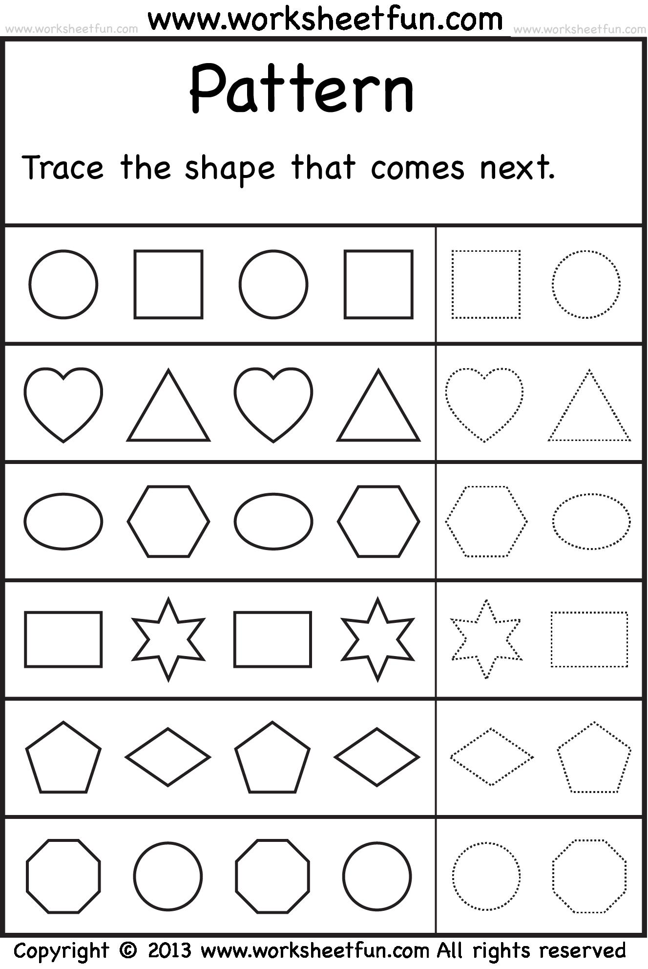 Preschool and Kindergarten Concepts Worksheets | All Kids Network